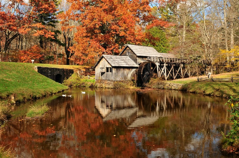 Mabry Mill along the Blue Ridge Parkway in Virginia
