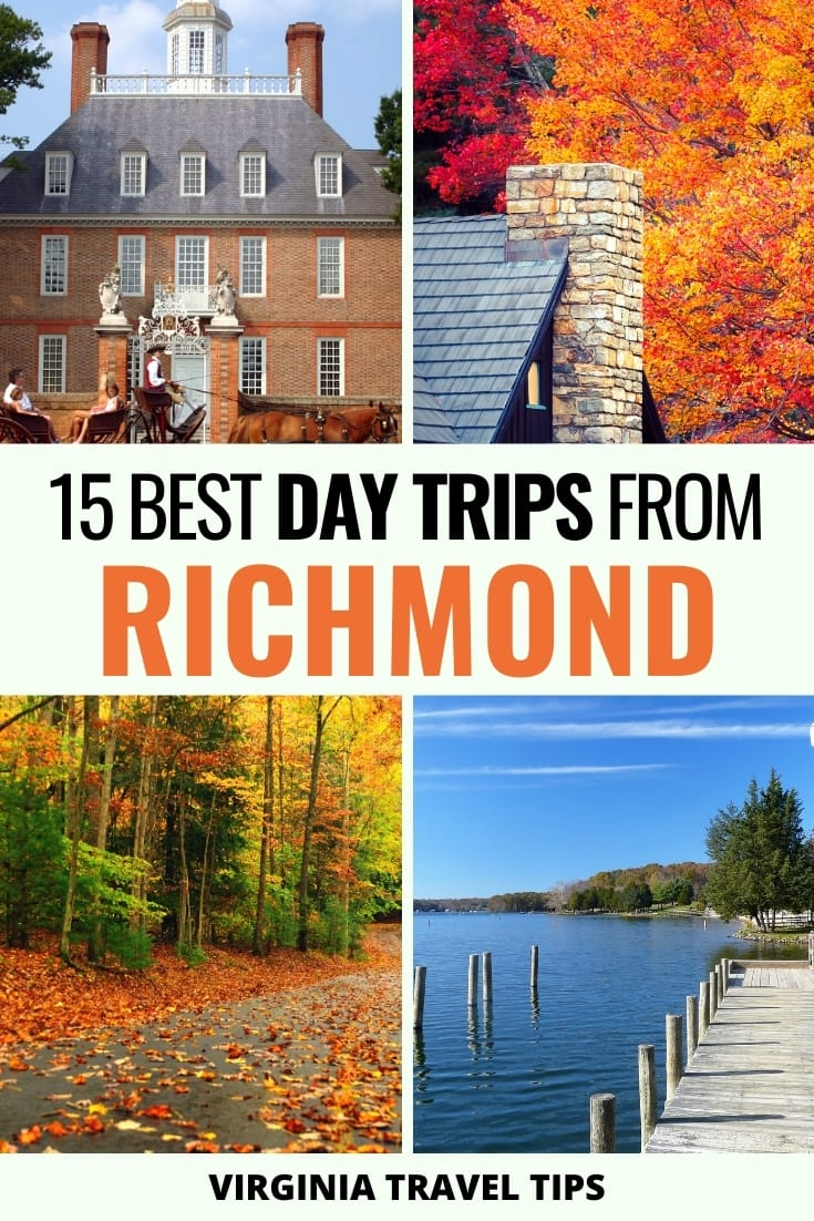 15 Best Day Trips from Richmond (Nature, Cities, & History) - Are you seeking the best day trips from Richmond, VA? This guide gives you 15 Richmond day trips that you should definitely add to your Virginia bucket list! | Places to visit in Virginia | Visit Virginia | Visit Richmond | RVA | Things to do in Richmond