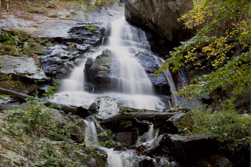 Apple Orchard Falls Trailhead waterfall in Virginia