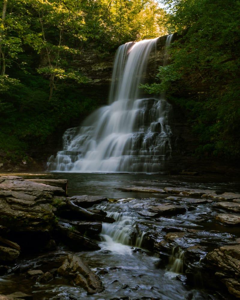 Cascade Falls Trailhead Virginia waterfall