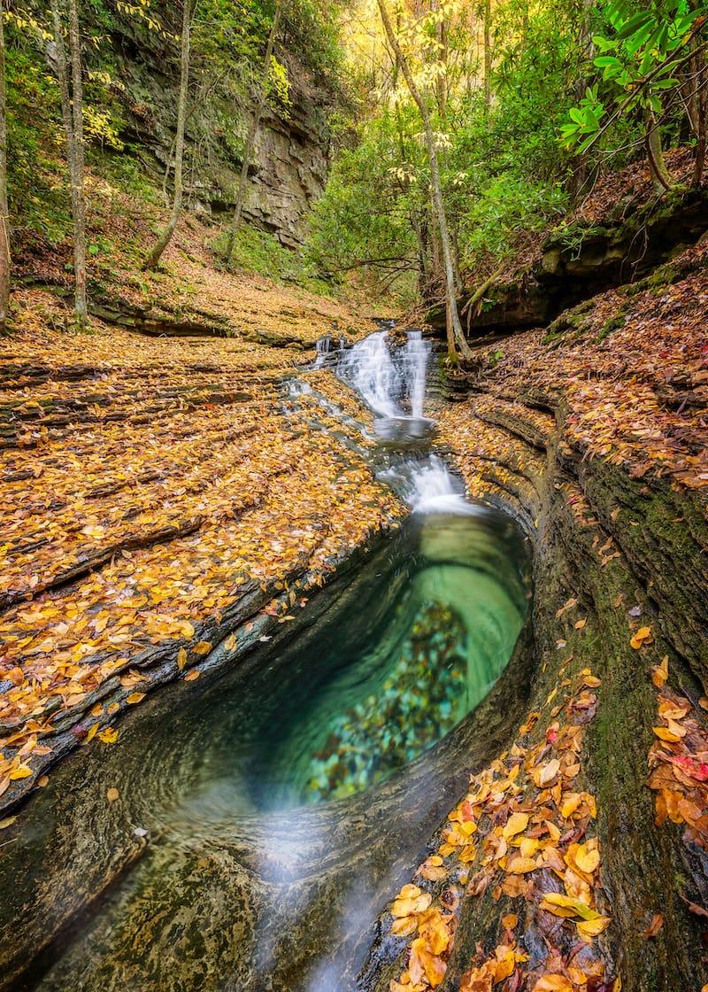 Devil's Bathtub Virginia waterfall
