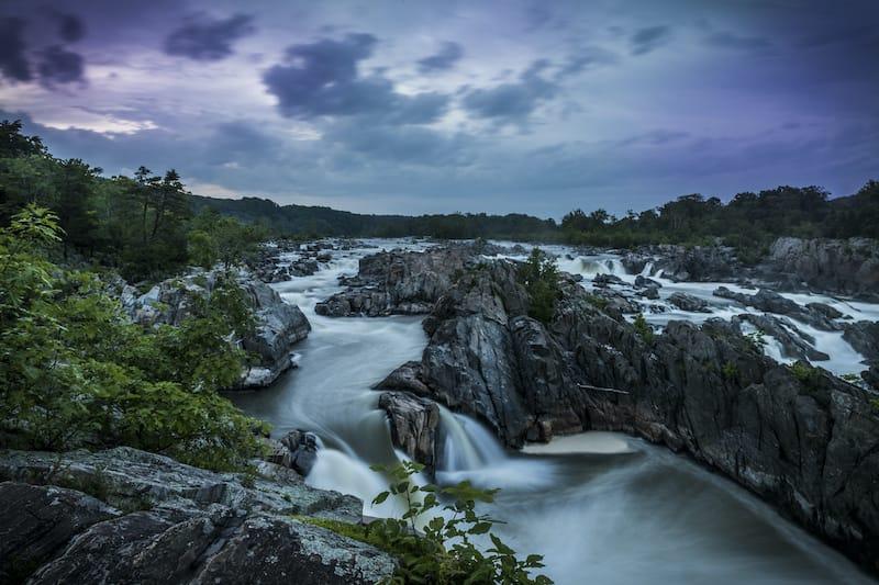 Great Falls Park Virginia waterfall
