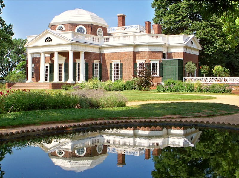 Monticello in Charlottesville VA