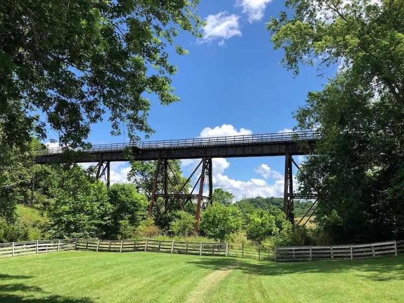 New River Trail State Park bike trail in Virginia in Draper, VA copy