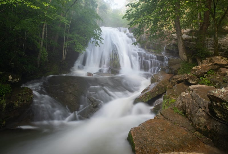 Roaring Run Furnace Trail Waterfalls hiking near Charlottesville