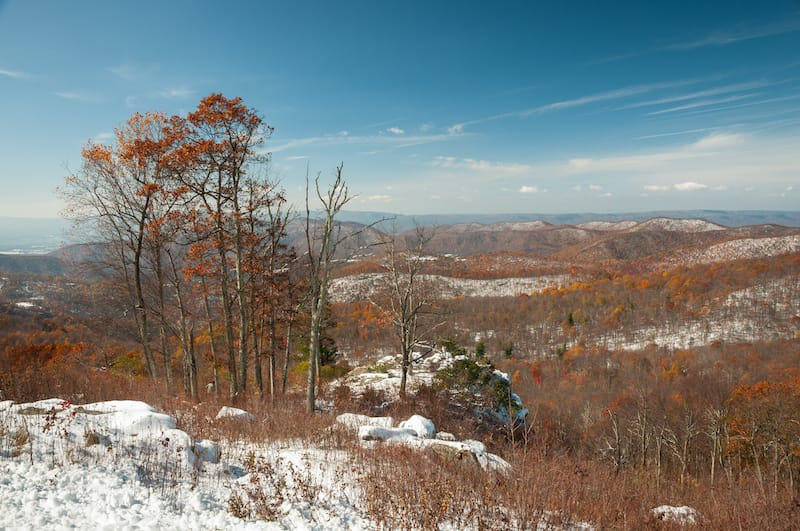 Shenandoah NP in winter