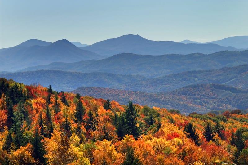 Grayson Highlands State Park Autumn Long Range Views Horizontal