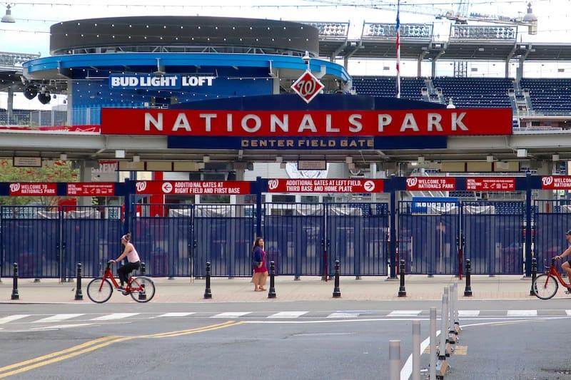 Washington Nationals Baseball Stadium in April