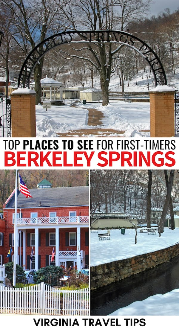 There are many amazing things to do in Berkeley Springs, WV that will encourage you to book a trip to the West Virginia Spa town! Here are some of our top picks! | Berkeley Springs things to do | Berkeley Springs attractions | landmarks | Berkeley Springs restaurants | Berkeley Springs spas | Berkeley Springs itinerary | What to do in Berkeley Springs | Places to visit in West Virginia | Berkeley Springs State Park | Spas in Berkeley Springs | Berkeley Springs hiking | Berkeley Springs sights