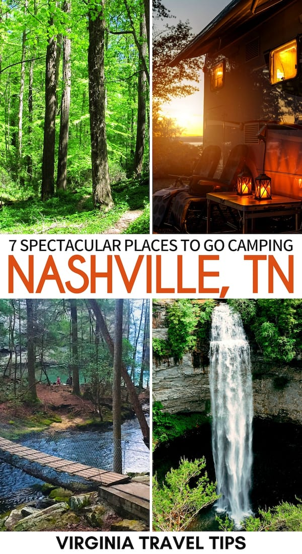 Are you searching for the best campgrounds near Nashville TN? This guide will help you find some amazing places to go camping near Nashville | Nashville camping | Nashville campgrounds | Camp near Nashville | Tennessee state parks | South Cumberland camping | Tennessee camping | Henry Horton camping | RV camping near Nashville | Fall Creek Falls State Park camping | Old Stone Fort State Archaeological Park camping | Cedars of Lebanon camping | Bledsoe Creek camping | Edgar Evins camping
