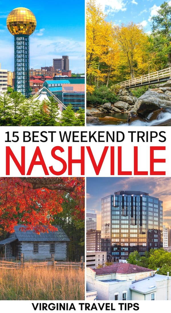 Are you bored with city life and are looking for the best weekend trips from Nashville? This guide showcases several Nashville weekend getaways - click for more! | Nashville things to do | Things to do in Nashville | Nashville sightseeing | Nashville day trips | Nashville weekend trips | Weekend getaways from Nashville | Places to visit near Nashville | State parks near Nashville | National Parks near Nashville | Places to visit in Tennessee | Tennessee itinerary