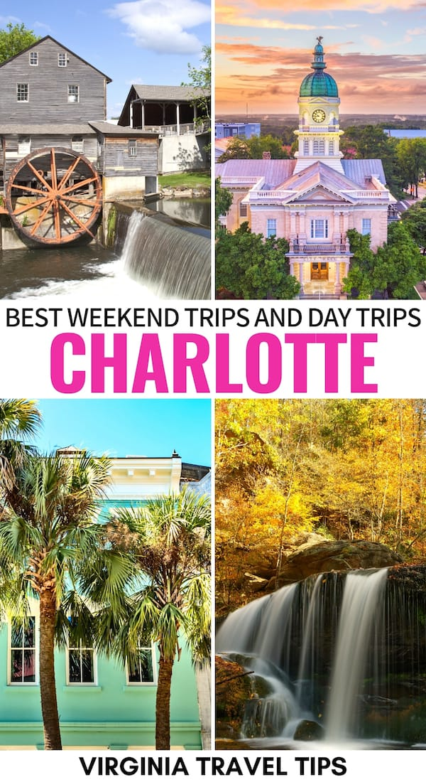 Are you on the hunt for the best weekend trips from Charlotte? This guide covers some fantastic Charlotte day trips as well as longer weekend getaways from Charlotte, North Carolina. Let us know your favorite in the comments! | Charlotte things to do | Places to visit in North Carolina | Day trips from Charlotte | Weekend trips Charlotte | City Breaks Near Charlotte