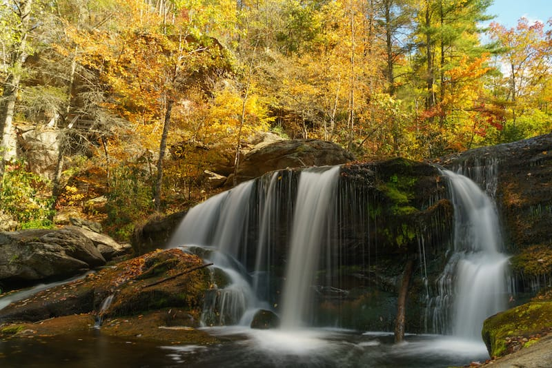 Bald River Falls in Cherokee National Forest in Tennessee
