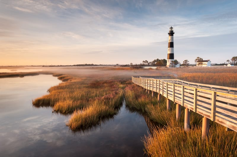 Bodie Island Lighthouse in the Outer Banks