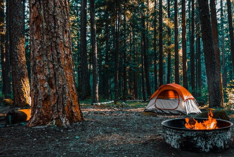 Camping on Shenandoah Mountain