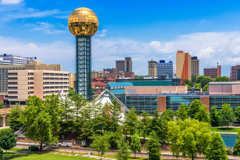 Knoxville Tennessee - best weekend trips from Nashville