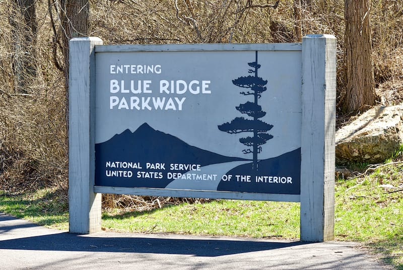 Northern entrance to the Blue Ridge Parkway