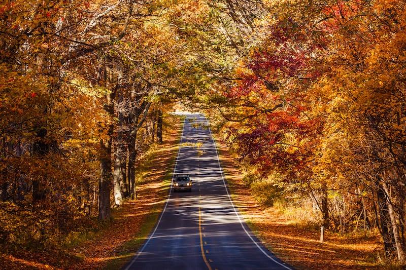 Skyline Drive in Shenandoah National Park in Virginia