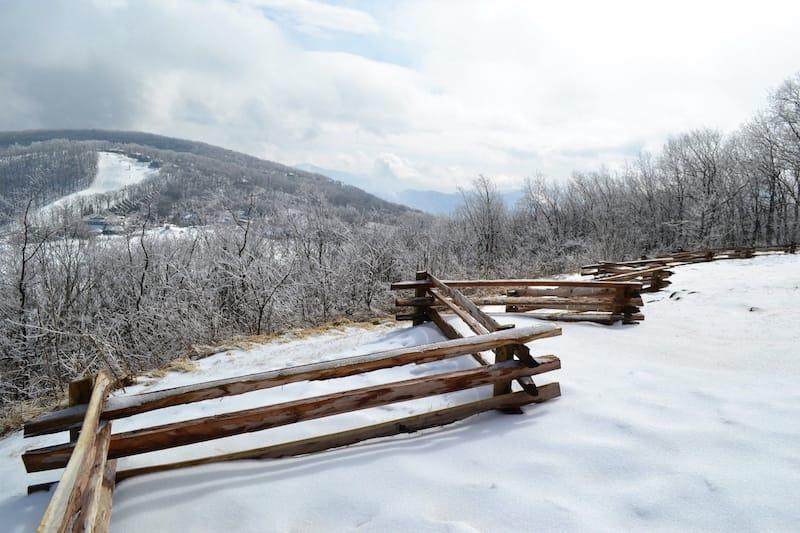 Snow at Wintergreen Resort in VA
