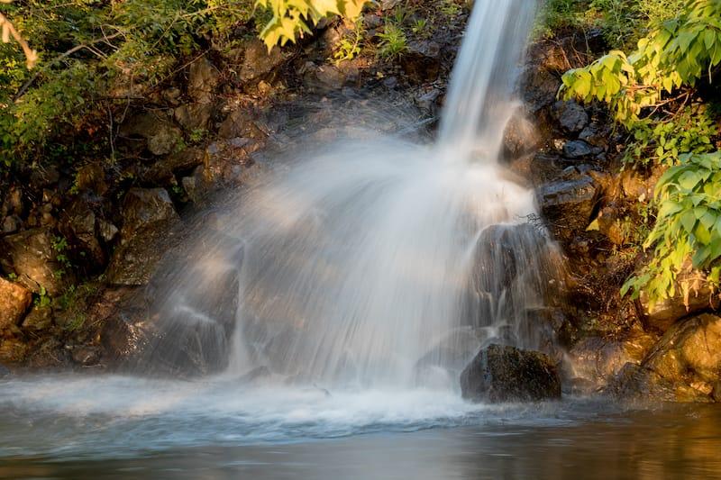 waterfall on the South River in Waynesboro Virginia near the Greenway Trail