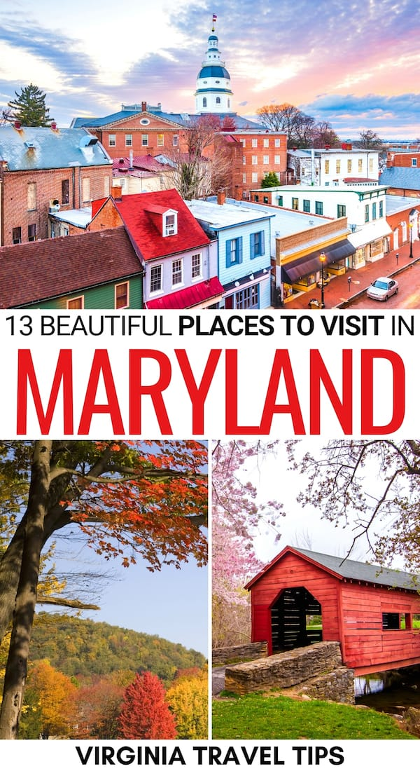 Planning an East Coast trip and looking for the best places to visit in Maryland? We have you covered! From Baltimore to Swallow Falls State Park and beyond! | Maryland destinations | Destinations in Maryland | Places in Maryland | Maryland places to visit | Maryland bucket list | Things to do in Maryland | Nature in Maryland | Maryland towns | Maryland Cities | Maryland state parks | Maryland battlefields | What to do in Maryland | Places to visit in MD