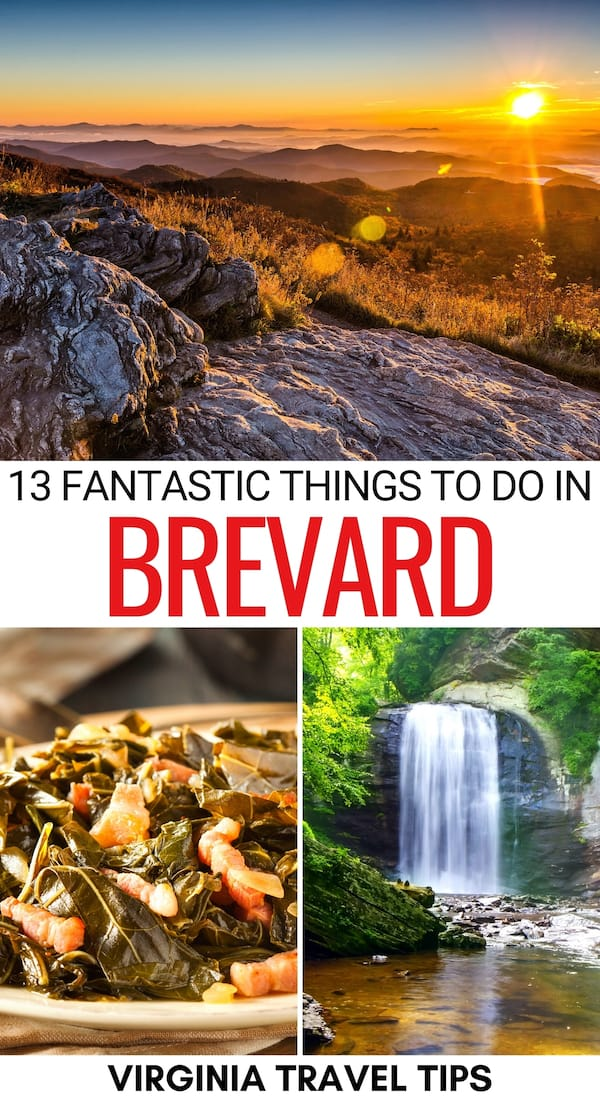 Planning a trip to Western North Carolina and looking for the best things to do in Brevard NC? This guide details a variety! Nature, food, history, and more! | Brevard things to do | What to do in Brevard | Brevard itinerary | Weekend in Brevard | Brevard attractions | Brevard hiking | Brevard restaurants | Brevard craft beer | Brevard coffee shops | Brevard landmarks | Brevard museums | Places to visit in Brevard | Places to visit near Asheville