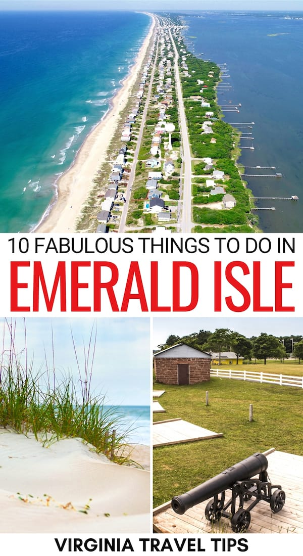 Are you heading North Carolina's Crystal Coast soon and are on the hunt for the best things to do in Emerald Isle NC? This guide is here to help! Click for more! | Things to do Crystal Coast NC | Emerald Isle things to do | What to do in Emerald Isle NC | Places to visit in Emerald Isle | Places to visit Crystal Coast NC | Places to visit in North Carolina | Beaches in NC | Emerald Isle restaurants | Emerald Isle parks | Emerald Isle Beaches | NC surfing | North Carolina State Parks