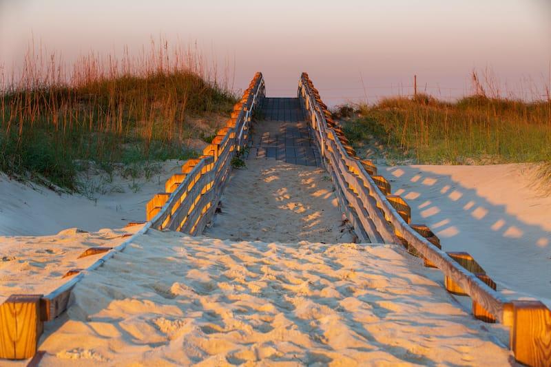 Beach Boardwalk in Salvo