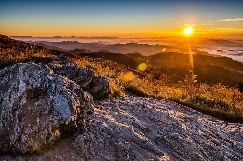 Blue Ridge Mountains from atop Black Balsam Bald