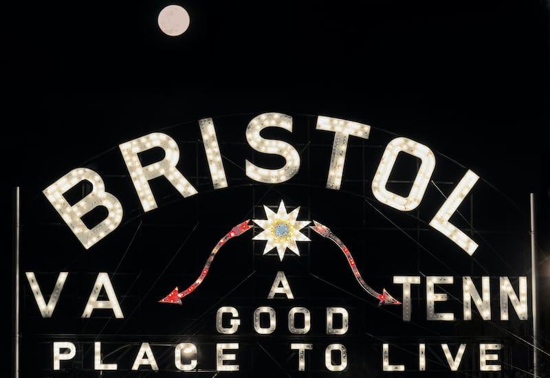 Bristol VA and TN sign