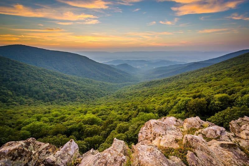 Crescent Rock in Shenandoah National Park, Virginia