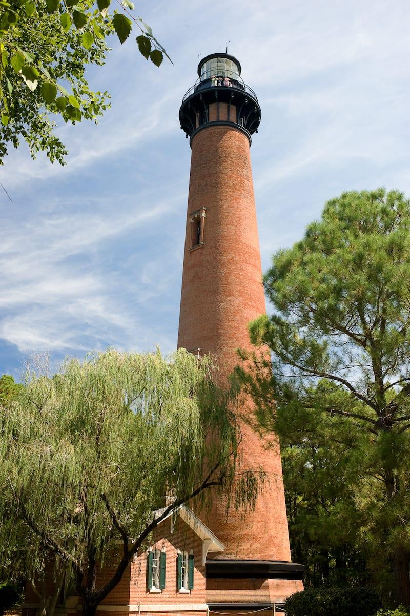 Currituck Beach Lighthouse in Corolla North Carolina