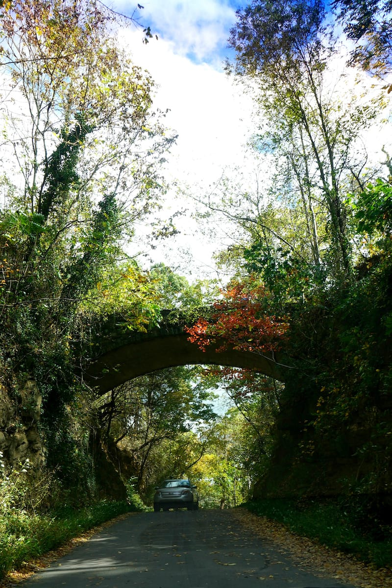 Helen's Bridge is one of the stops on the Ghost Tour (this is during fall)