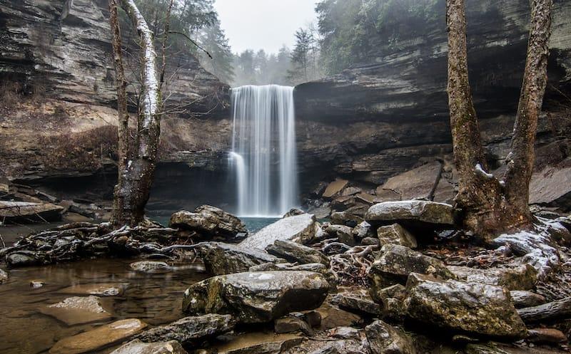Lower falls of Greeter Falls