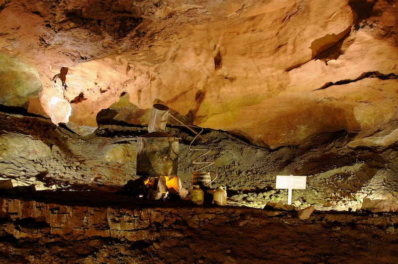 Moonshine Still Hidden in a Cave at The Lost Sea