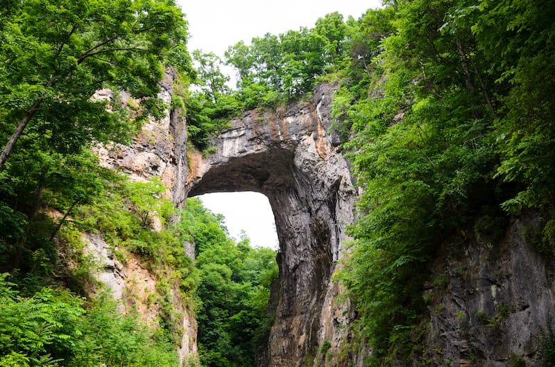 Natural Bridge State Park in Virginia