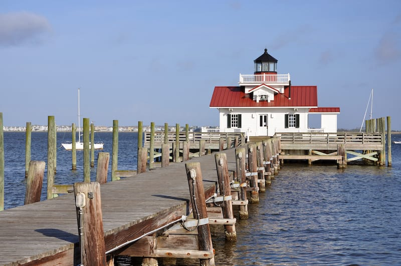 Roanoke Marshes Lighthouse in Manteo NC