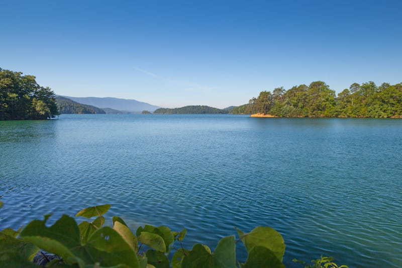 South Holston Lake in Tennessee and Virginia
