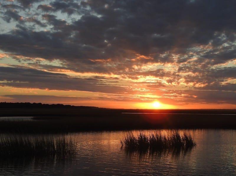 Sunset at Hammocks Beach State Park