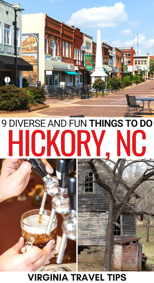 Looking to spend a weekend in Hickory? This is a guide of the best things to do in Hickory NC, including restaurants, kid-friendly attractions, parks, and more! | What to do in Hickory | Hickory things to do | Places to visit in North Carolina | Visit Hickory NC | Hickory restaurants | Hickory museums | Hickory hiking | Hickory itinerary | Hickory craft beer | Hickory coffee | Hickory attractions | Hickory landmarks | Day trip to Hickory NC