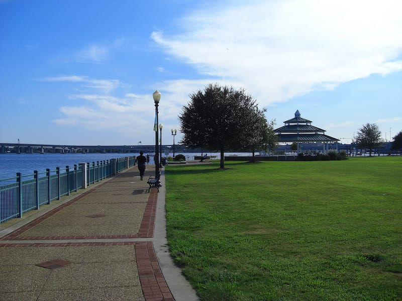 Union Point Park in downtown New Bern