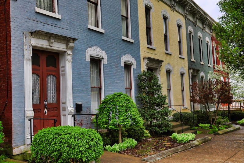 Victorian homes in Wheeling