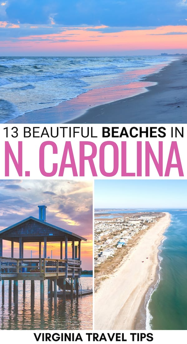 Wanting to plan a trip to one of the best North Carolina beaches this summer? This guide details the best beaches in North Carolina - including a map! | NC Beaches | Beaches in NC | Outer Banks beaches | Places to visit in North Carolina | Things to do in North Carolina | What to do in North Carolina | North Carolina attractions | North Carolina landmarks | Places to visit in NC | NC beach towns | OBX beaches