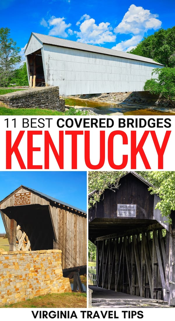 Are you interested in locating the best covered bridges in Kentucky? This guide details some of the most iconic Kentucky covered bridges you can visit today! | Places to visit in Kentucky | Things to do in Kentucky | Kentucky destinations | Covered bridges in the south | Covered bridges in KY | KY covered bridges | Southern covered bridges | What to do in Kentucky | Kentucky itinerary