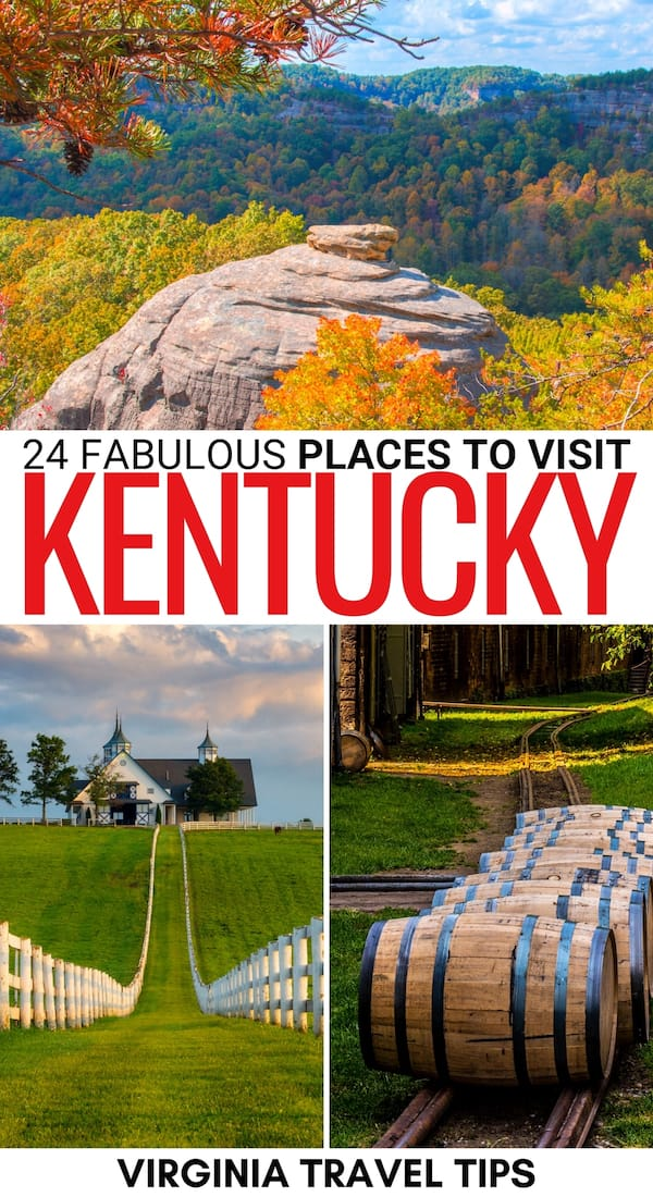 Looking for the best places to visit in Kentucky? These destinations vary from national parks to cities and are perfect for your Kentucky bucket list. | Destinations in Kentucky | Things to do in Kentucky | Places in Kentucky | What to do in Kentucky | Kentucky attractions | Kentucky landmarks | Weekend getaways in Kentucky | National parks in Kentucky | Kentucky things to do | Kentucky destinations | Kentucky hiking | Kentucky itinerary | Kentucky sightseeing | Places to visit in KY