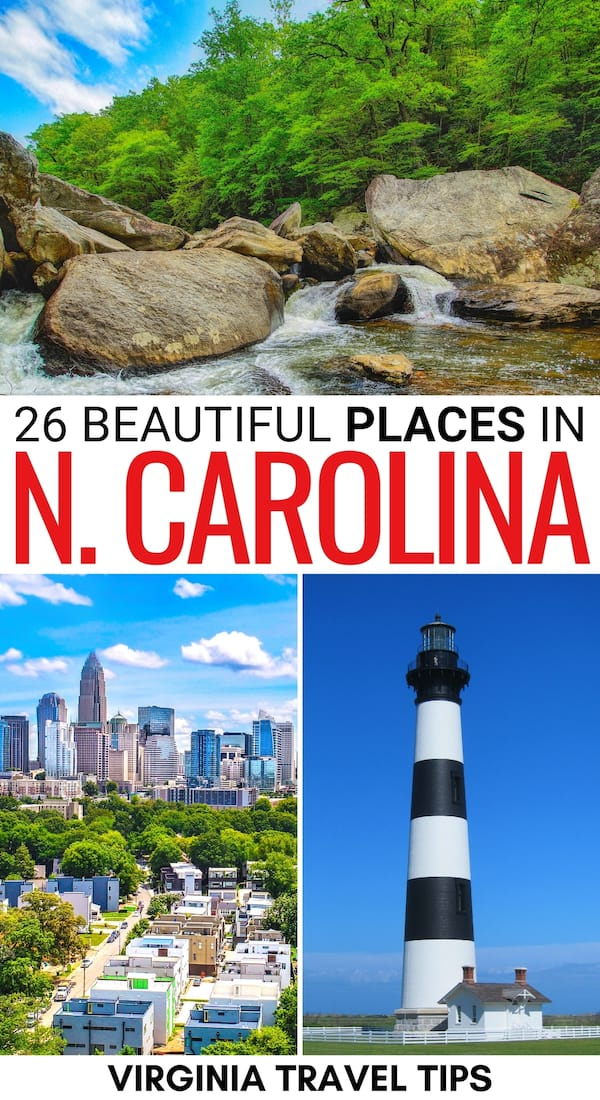 Are you looking for the best places to visit in North Carolina? This guide contains some incredible North Carolina destinations - nature, city, and more! | NC bucket list | North Carolina bucket list | Things to do in North Carolina | Places to visit in NC | North Carolina places to visit | Destinations in North Carolina | North Carolina Beaches | North Carolina towns | North Carolina cities | NC Destinations | Where to go in NC | Places to see in North Carolina | What to do in NC