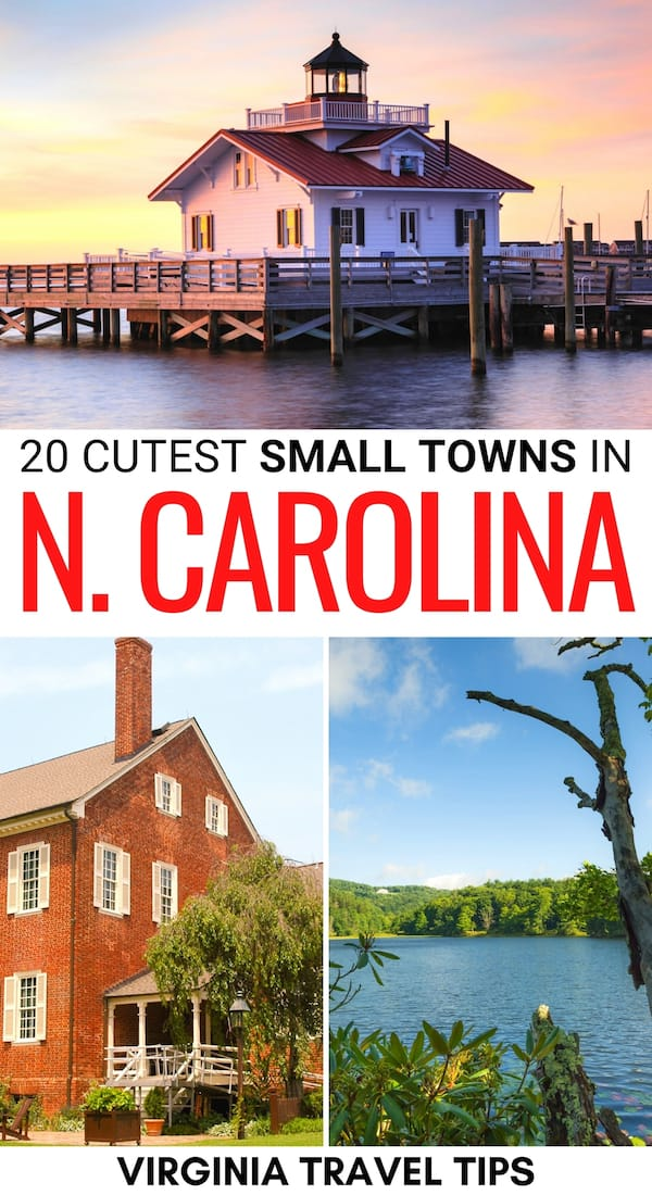 Are you looking for the best small towns in North Carolina? This guide lists the cutest and most historic North Carolina small towns and why you should visit! | NC small towns | Small towns in NC | Places to visit in NC