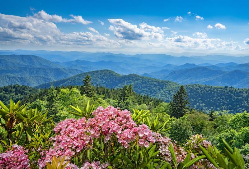 Smoky Mountains near Asheville
