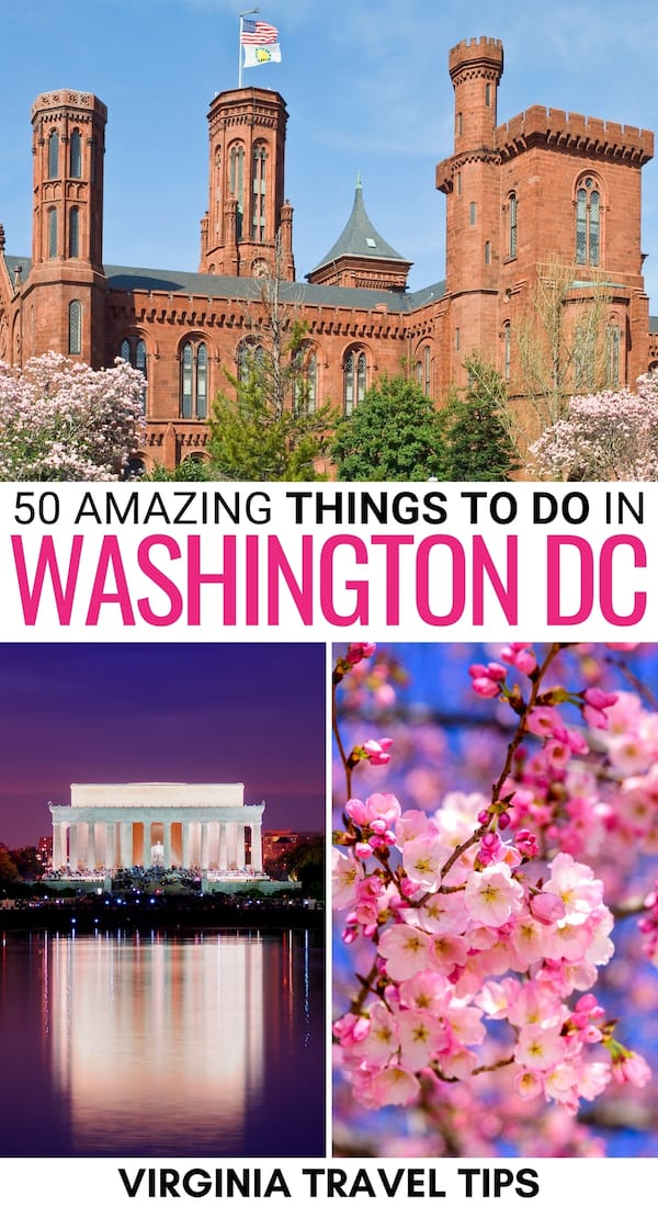 Traveling to DC for the first time and looking for the best things to do in Washington DC? This guide dishes the top attractions, landmarks, and more! | Washington DC things to do | What to do in Washington DC | Washington DC attractions | Washington DC landmarks | Washington DC itinerary | Washington DC museums | Hiking in Washington DC | Historical sights in Washington DC | Washington DC sightseeing | Places to visit in Washington DC | Restaurants in Washington DC | Places in Washington DC