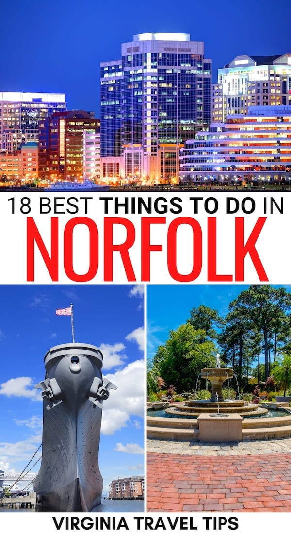 Are you heading to southeastern Virginia and are looking for the best things to do in Norfolk VA? We the best Norfolk attractions, restaurants, and more! | Norfolk things to do | Places to visit in Norfolk | Norfolk sightseeing | Norfolk hiking | Things to do in Virginia | What to do in Norfolk VA | Norfolk landmarks | Sights in Norfolk VA | Weekend getaways in Virginia | Visit Norfolk VA | Travel to Norfolk VA | Virginia is for lovers